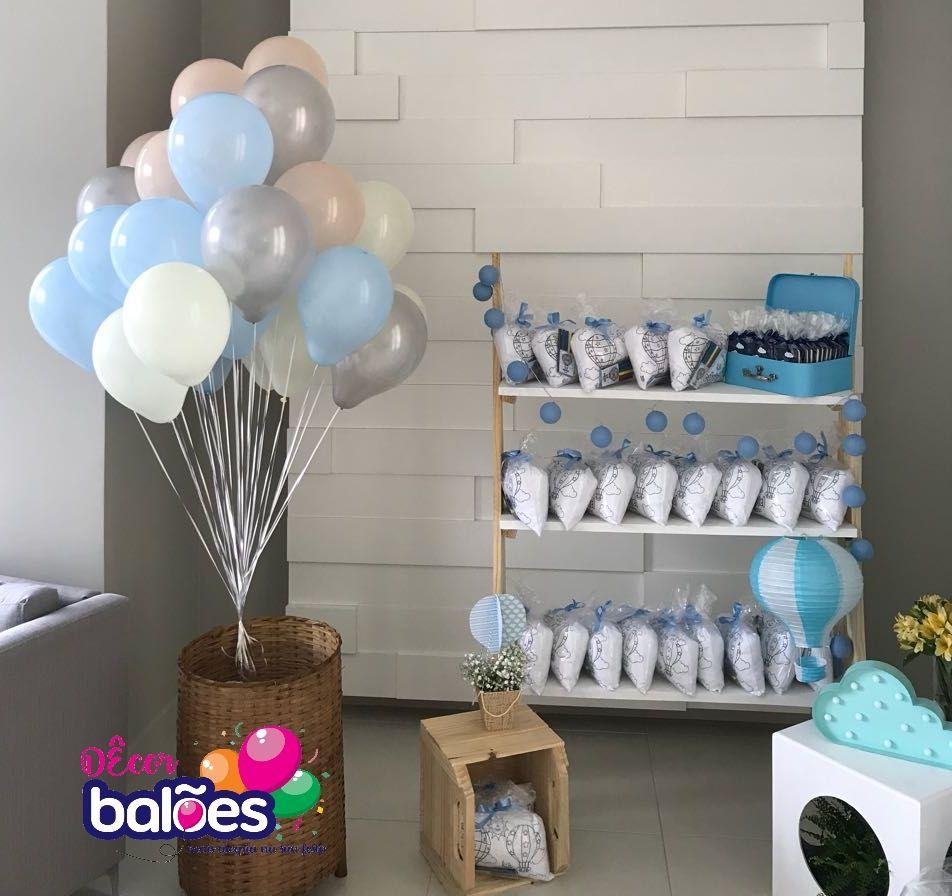 Decoracao Com Baloes Baloes Com Gas Helio Cesto Com Baloes Caixa