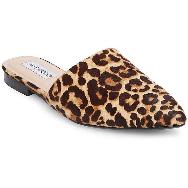 Steve Madden Trace-L Flats ($90) ❤ liked on Polyvore featuring shoes, ·  Leopard Flat ShoesLeopard Print ...