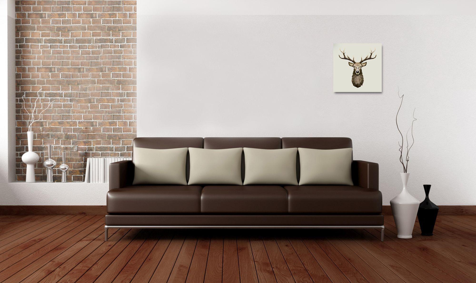 Deko-Panel Motiv: Deer 50x50 cm Spiegelprofi #optiwohnwelt #mancave ...