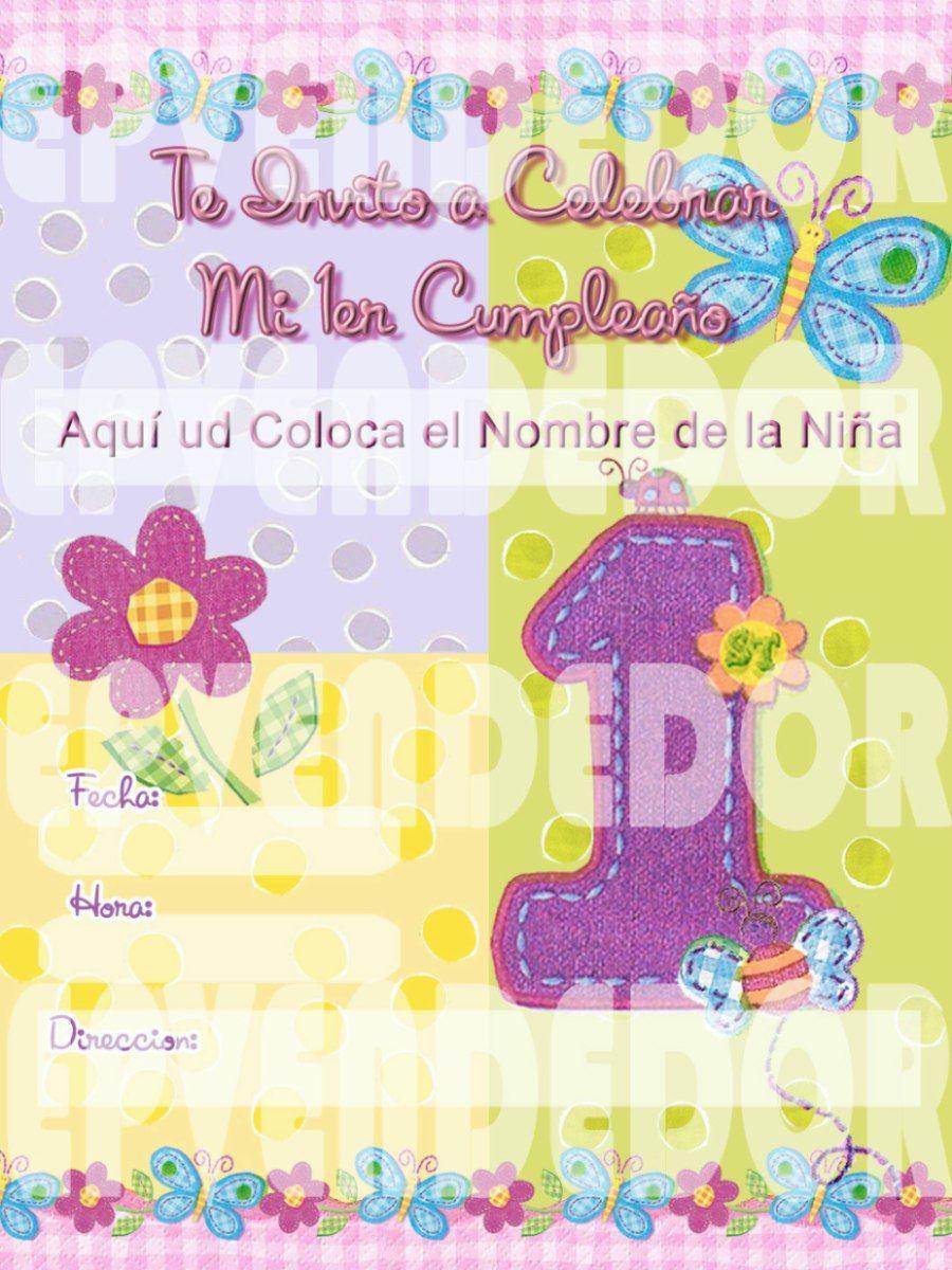 Tarjetas De Invitación De Cumpleaños De Mariposas Imagui