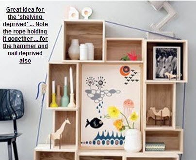A great idea ... storage room, kids room, pantry ... almost anywhere that needs shelving.