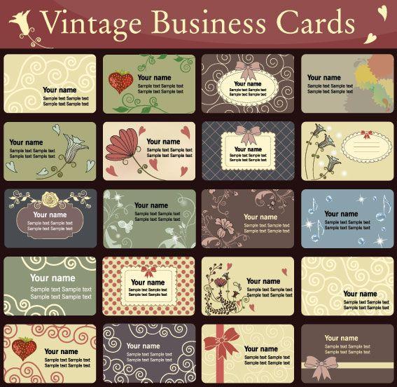 Business Card Design Templates Free Download   printables   Pinterest