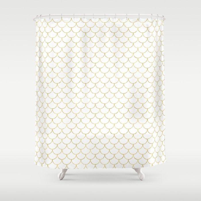 KESS InHouse Chickaprint Skap Pink Gold Shower Curtain 69x70 by