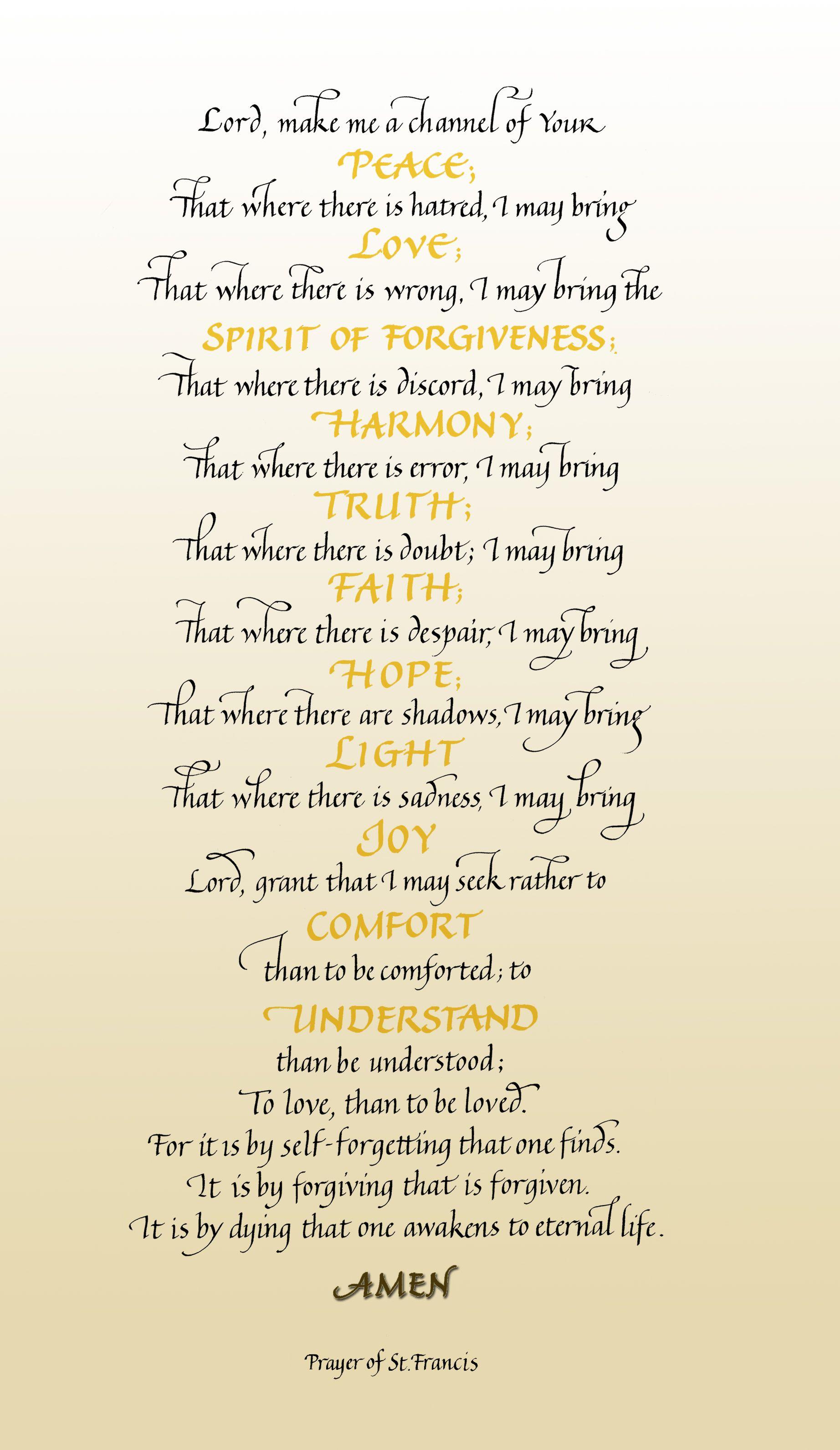 God Is Good Saint Francis Prayer Prayers Inspirational Words