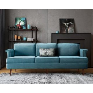 For Porter Sea Blue Sofa Get Free Shipping At Your