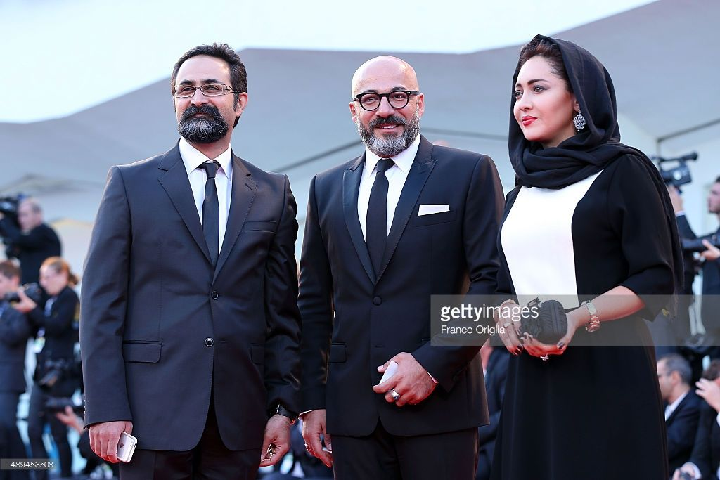 Vahid Jalilvand, Niki Karimi and Amir Aghaei attend the closing ceremony and premiere of 'Lao Pao Er' during the 72nd Venice Film Festival on September 12, 2015 in Venice, Italy.