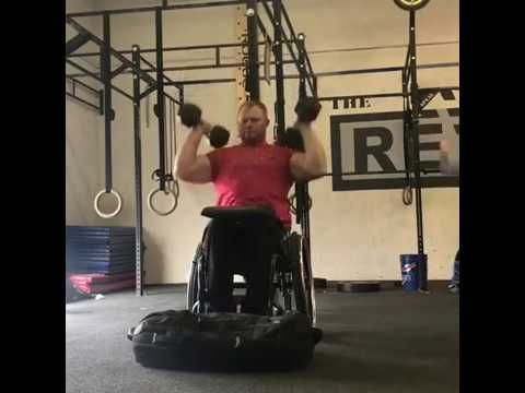 upperbody wheelchair exercises with dumbbells  youtube