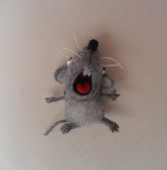 Needle Felted Mouse Mouse Magnet Cute Little Mouse Soft Sculpture Gift Animal Lover Valyanie Shersti Vojlochnye Kukly Valyanie