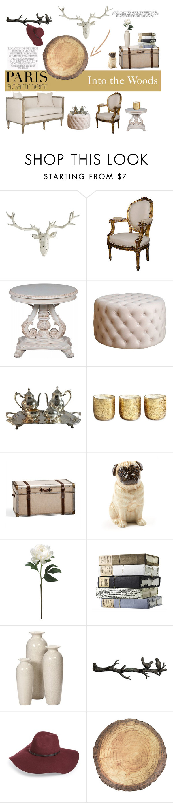 """""""Into the Woods"""" by missmodel13 ❤ liked on Polyvore featuring interior, interiors, interior design, home, home decor, interior decorating, Pier 1 Imports, Abbyson Living, Reed & Barton and Illume"""