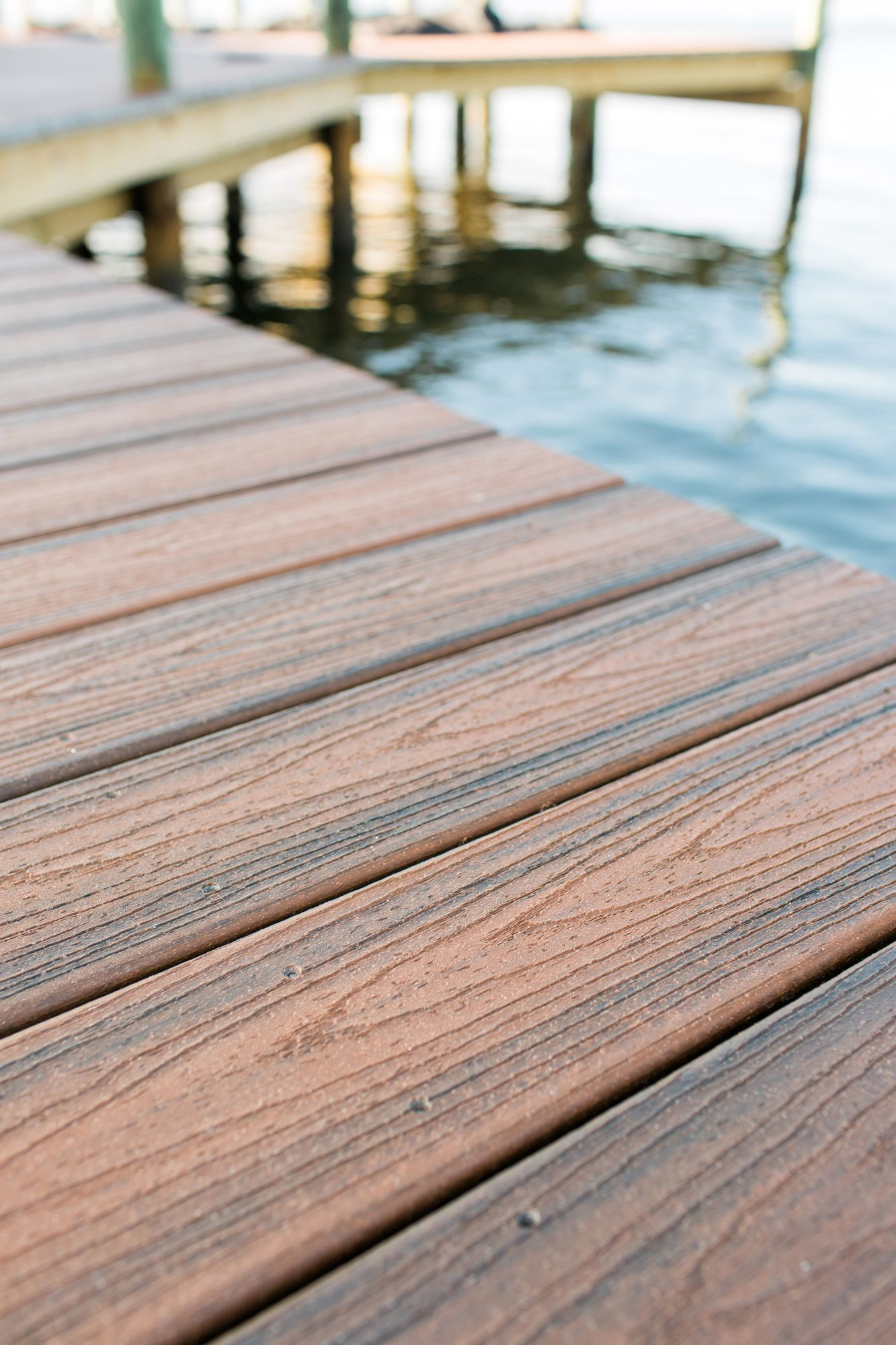 Trex Transcend Decking In Spiced Rum Was Used On The Dock Of The