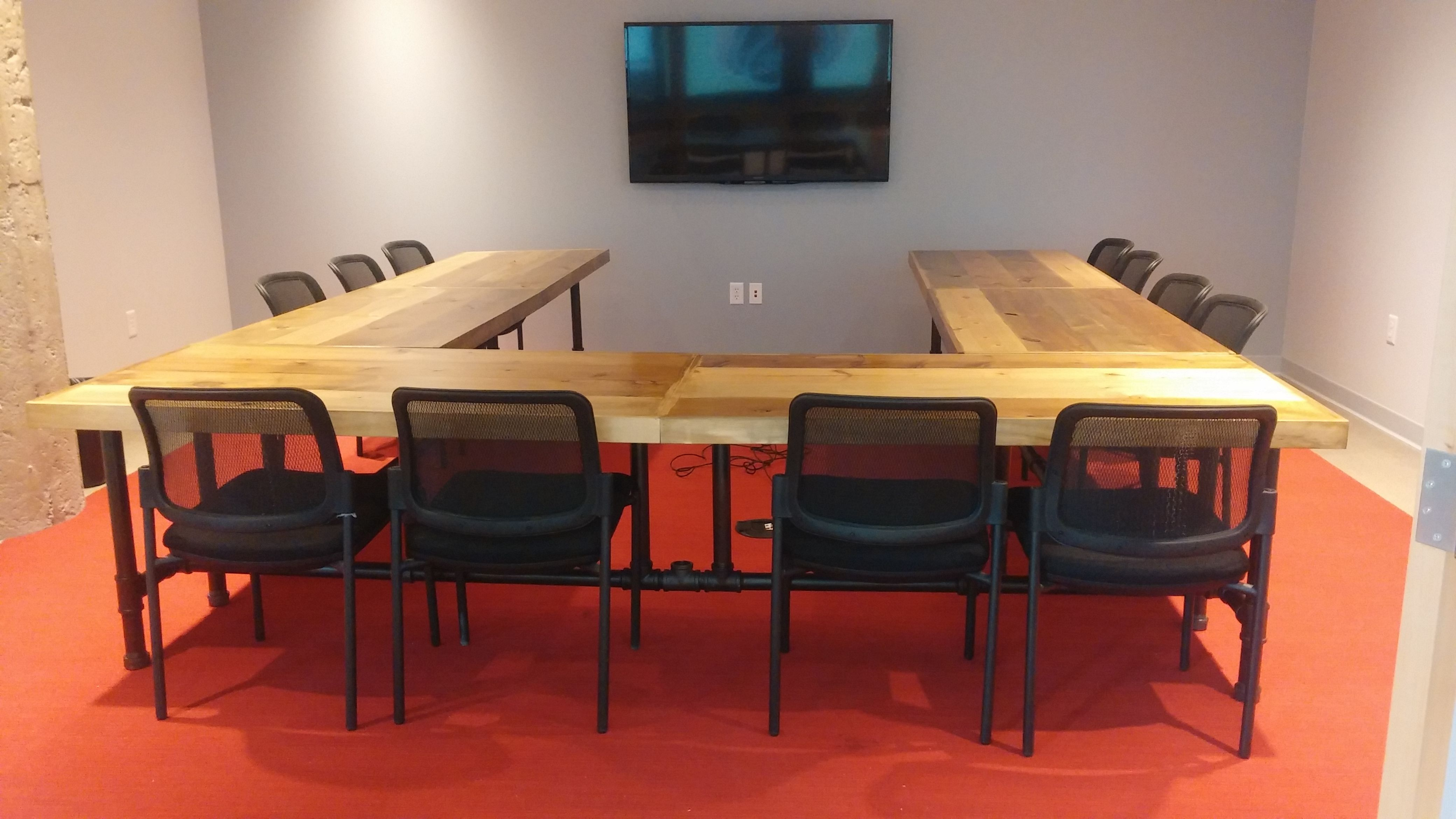 U Shaped Conference Tables Done In A Barn Wood Lookvery Nice - U shaped conference table