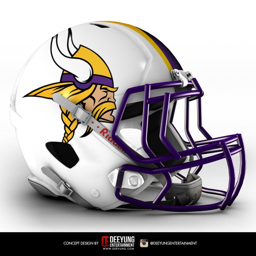 NFL Concept Helmets - Album on Imgur - Minnesota Vikings Cascos De Fútbol 1ee3de5abeb