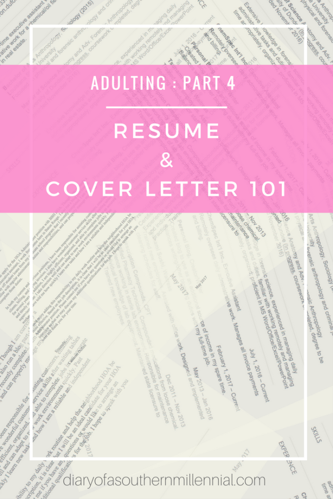 Adulting Part   Resume And Cover Letter   Blogging And