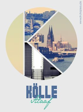 """K WIE KÖLLE"" - 30x40 cm - starting at 36,- €"