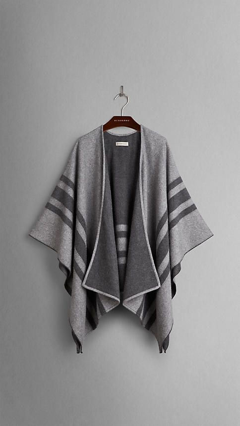 Striped Cashmere Merino Wool Wrap  a0791115731