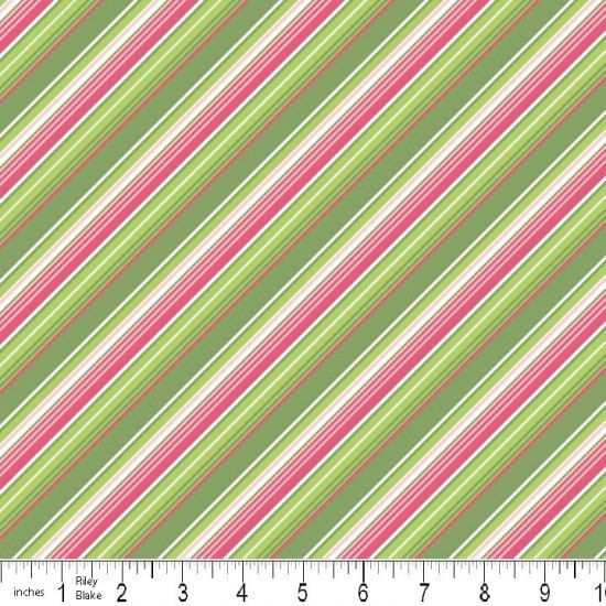 Pink and Green Stripe Summer Song from Riley Blake