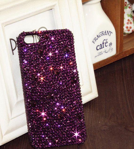 Handmade Bling sparkle diamond crystal Rhinestone iPhone 6 6 plus ...