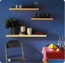 purchase cheap 08b33 10eb0 Offset floating shelves... really like this color | House ...