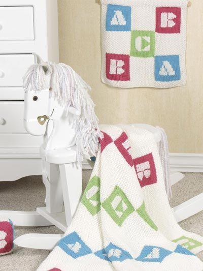 Babies & Children's Knitting - Baby Knitting Patterns - Alphabet Blocks Baby Accessories