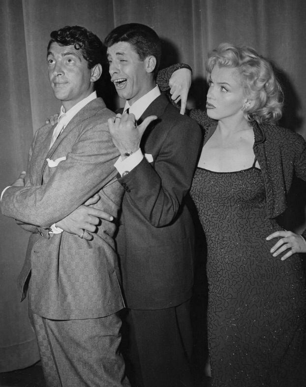 Dean Martin, Jerry Lewis, and Marilyn Monroe
