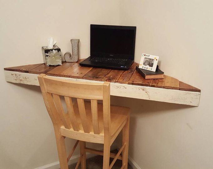 Floating Corner Desk/ Modern Corner Desk/ Floating Shelves ...