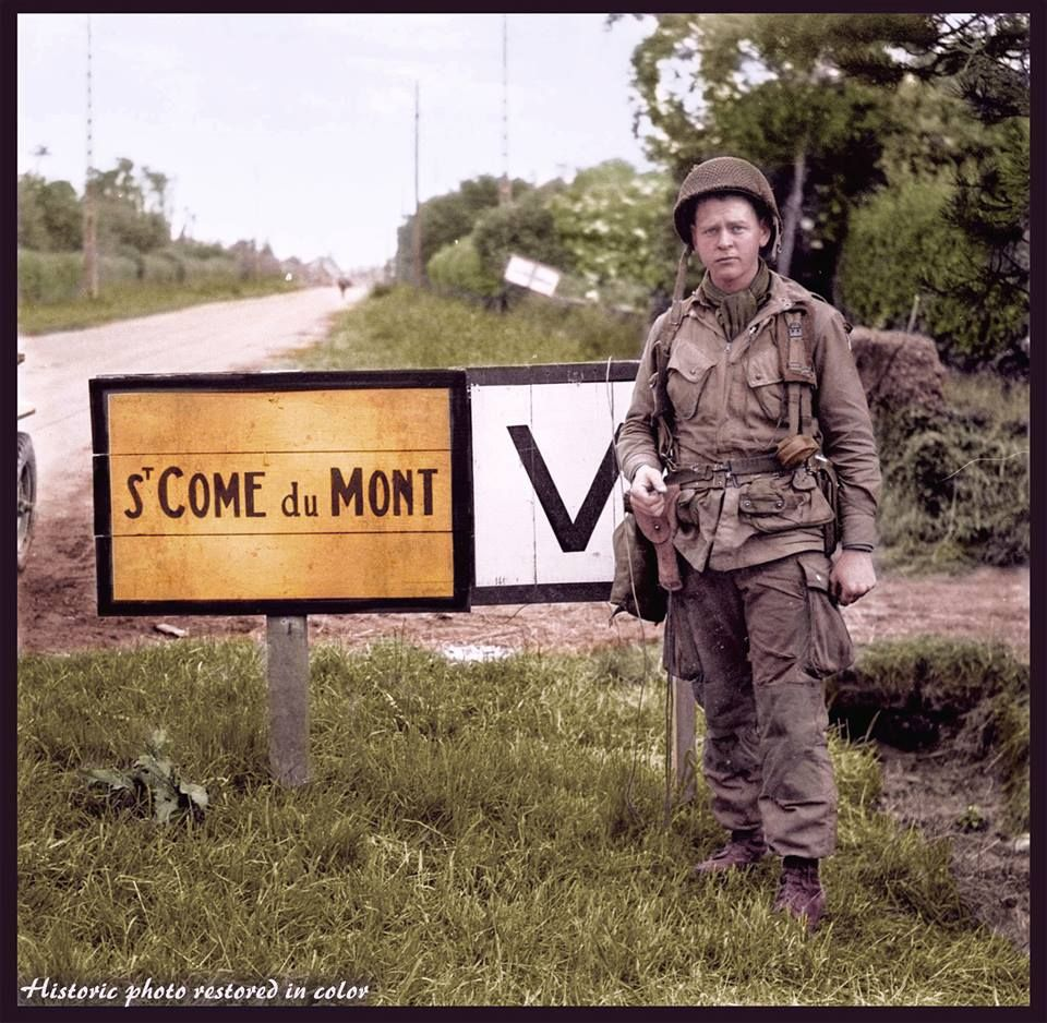 Some of the best colorized images of the Airborne Landings in Normandy, made by the best artists of the colourisation