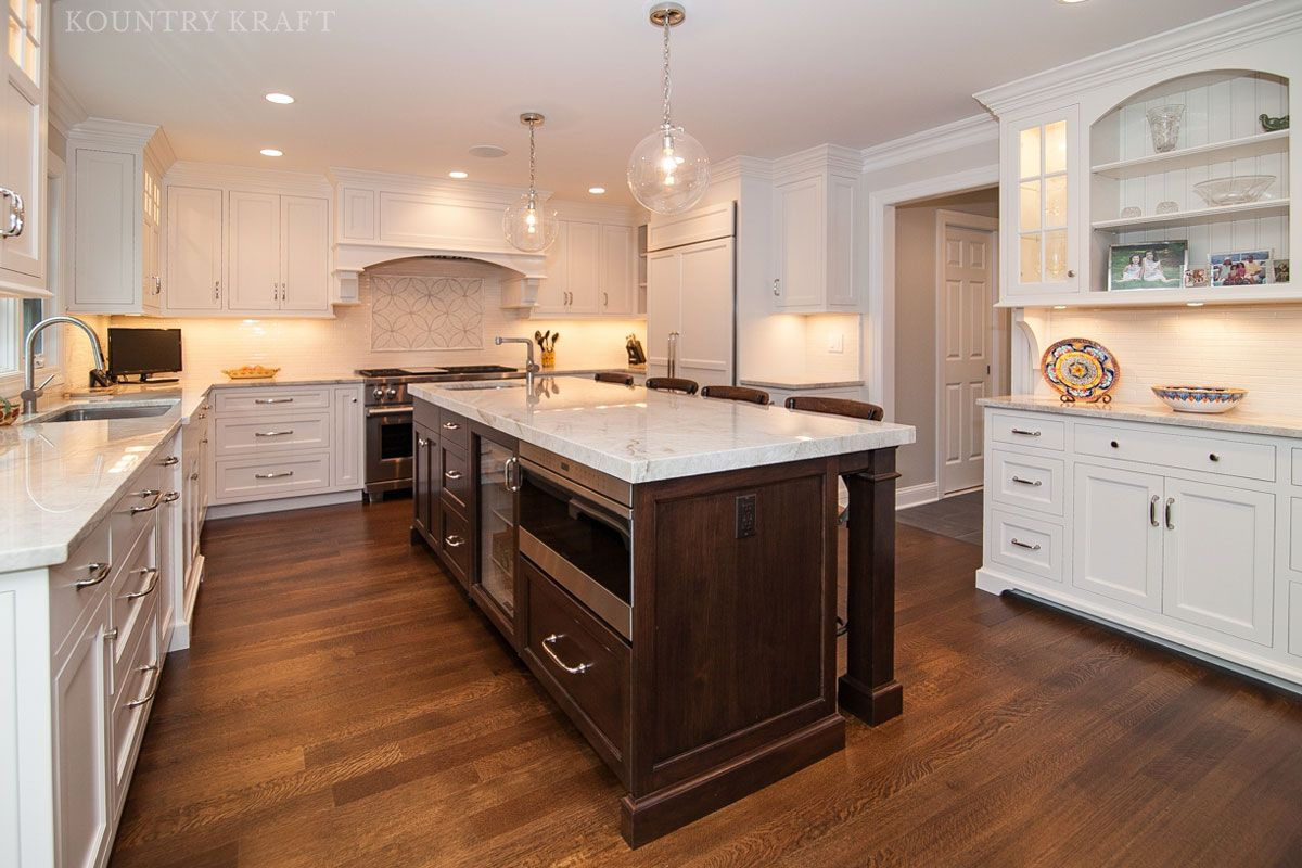 Kitchen Cabinet And Island With English Walnut Stain Madison Nj Kitchen Island Cabinets Classic Kitchens Custom Kitchen Cabinets