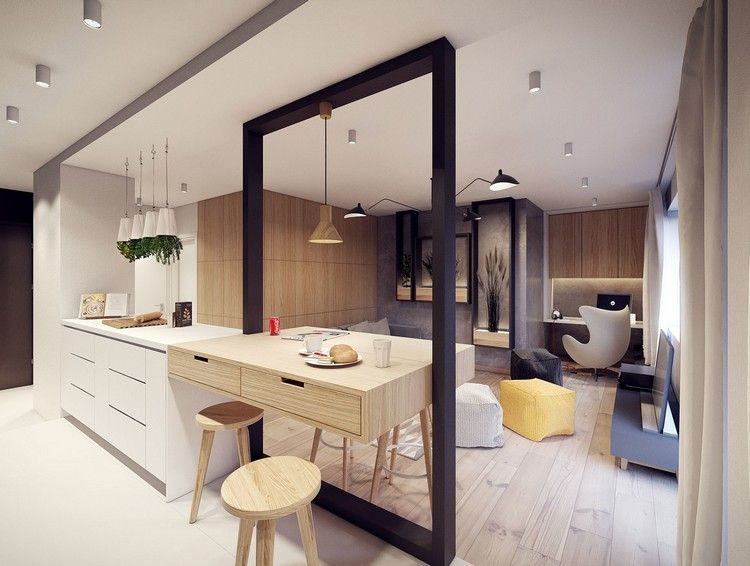 Déco Cuisine Ouverte Sur Salon En Propositions Tendance - Cuisiniere four multifonction pour idees de deco de cuisine
