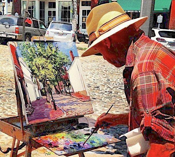 Artist on Main Street