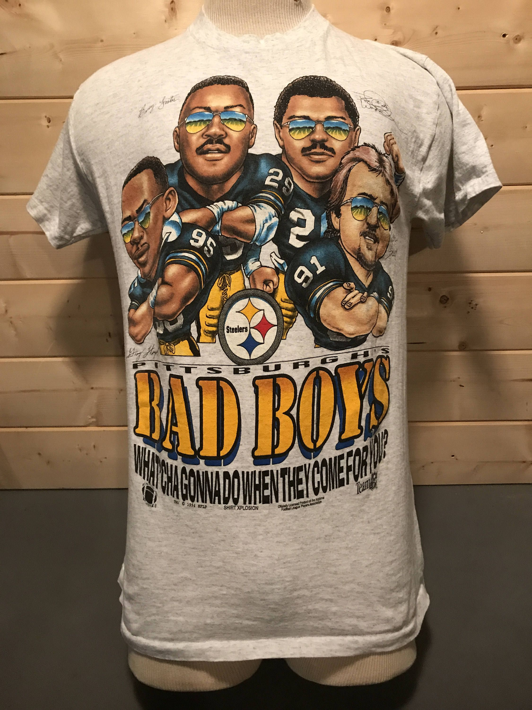 df054b9a1 Vintage 1990's Pittsburgh Steelers Bad Boys Cartoon Football T-Shirt Made  in USA by 413productions on Etsy