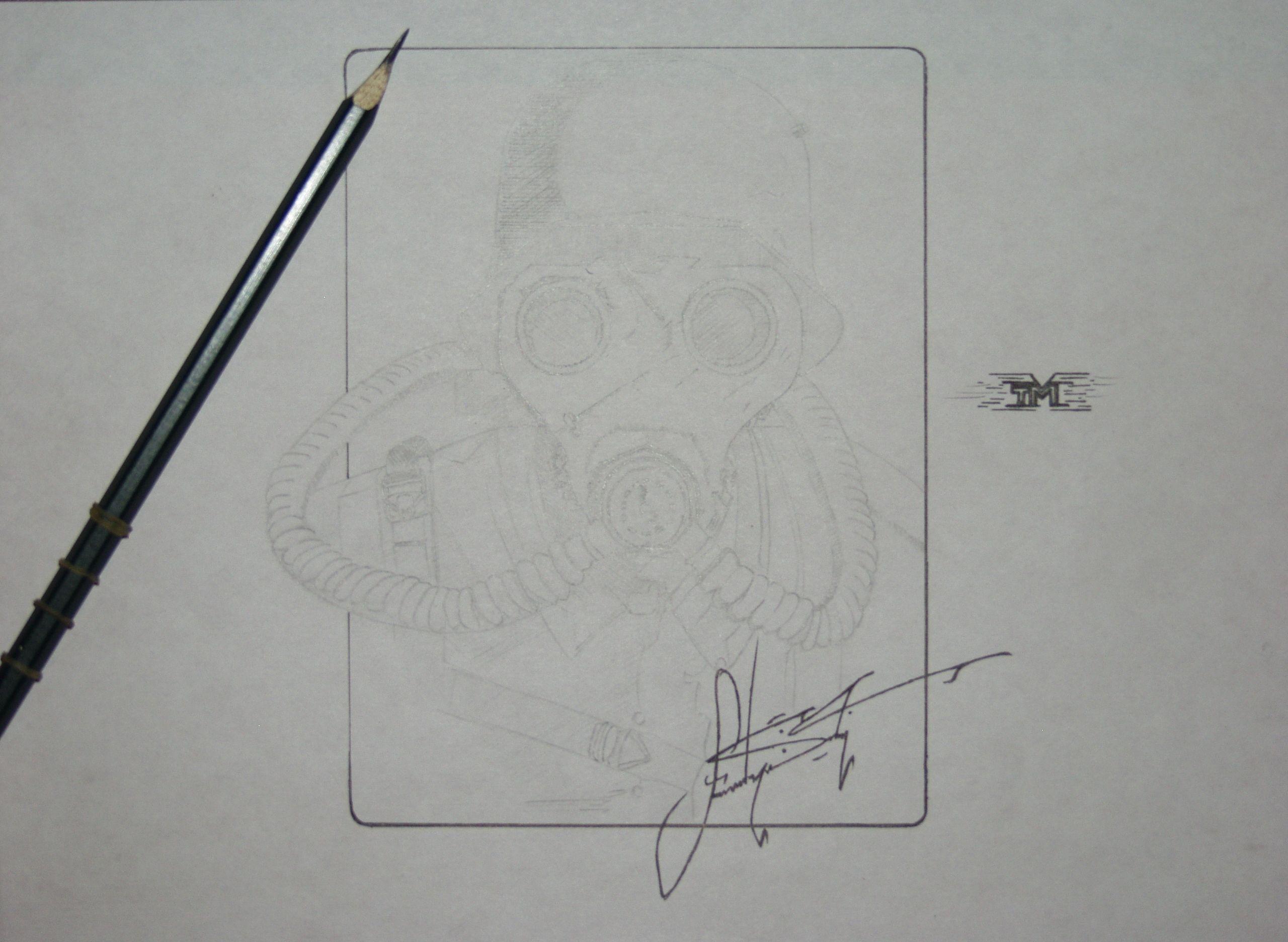 Gas mask By...Sam Gonzalez...