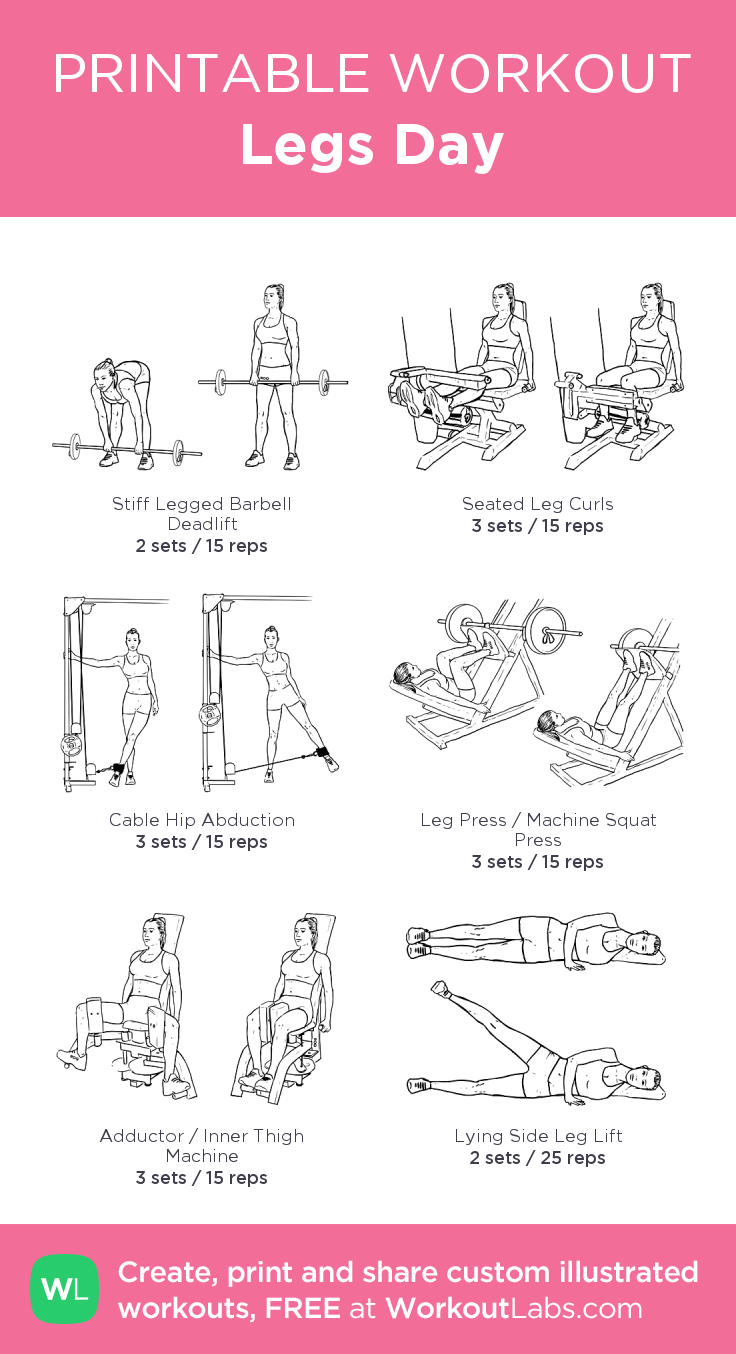 Legs Day · Free workout by WorkoutLabs Fit