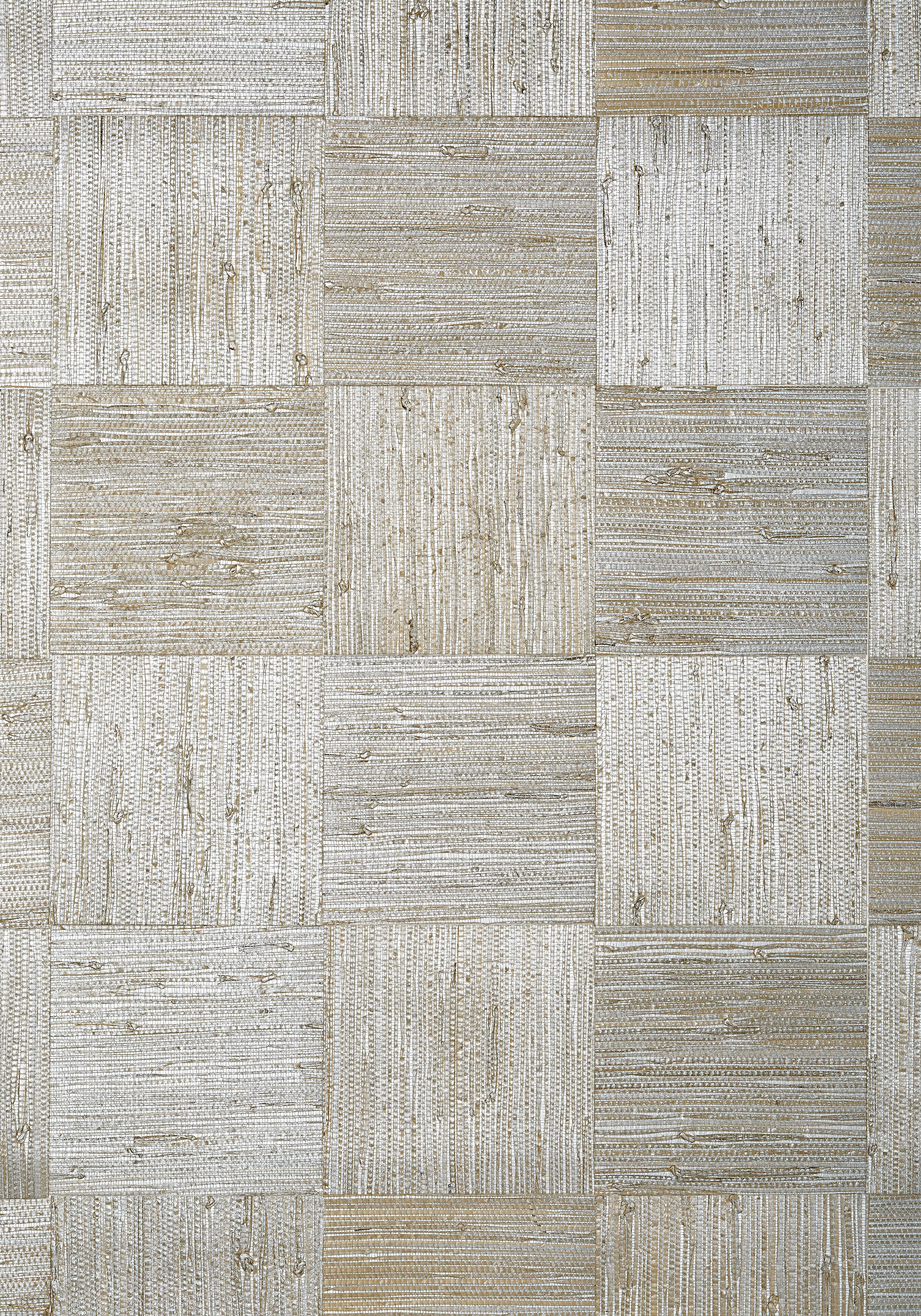 Mosaic Weave Metallic Silver T24077 Collection Grasscloth