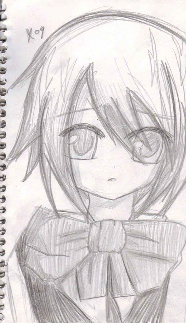 cute pencil anime girls