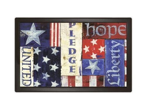 Magnet Works Matmates Doormat Patriotic Collage Design