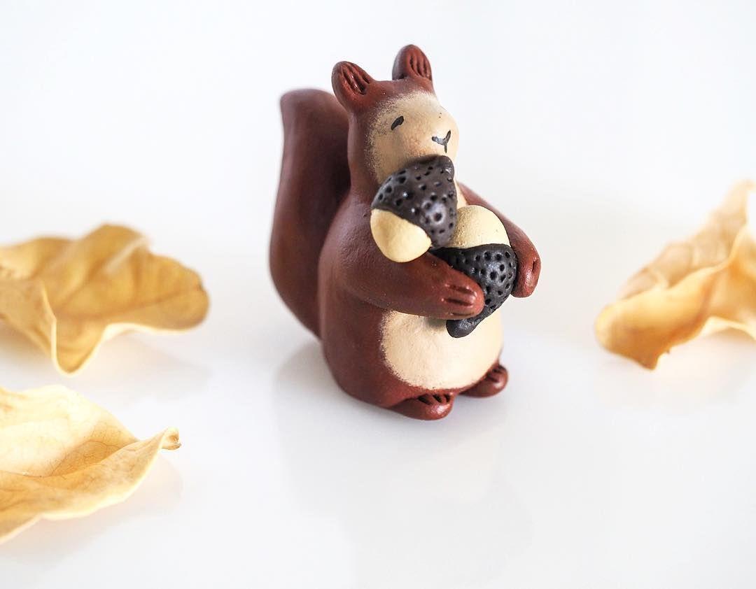 My busy squirrel  figurine <3