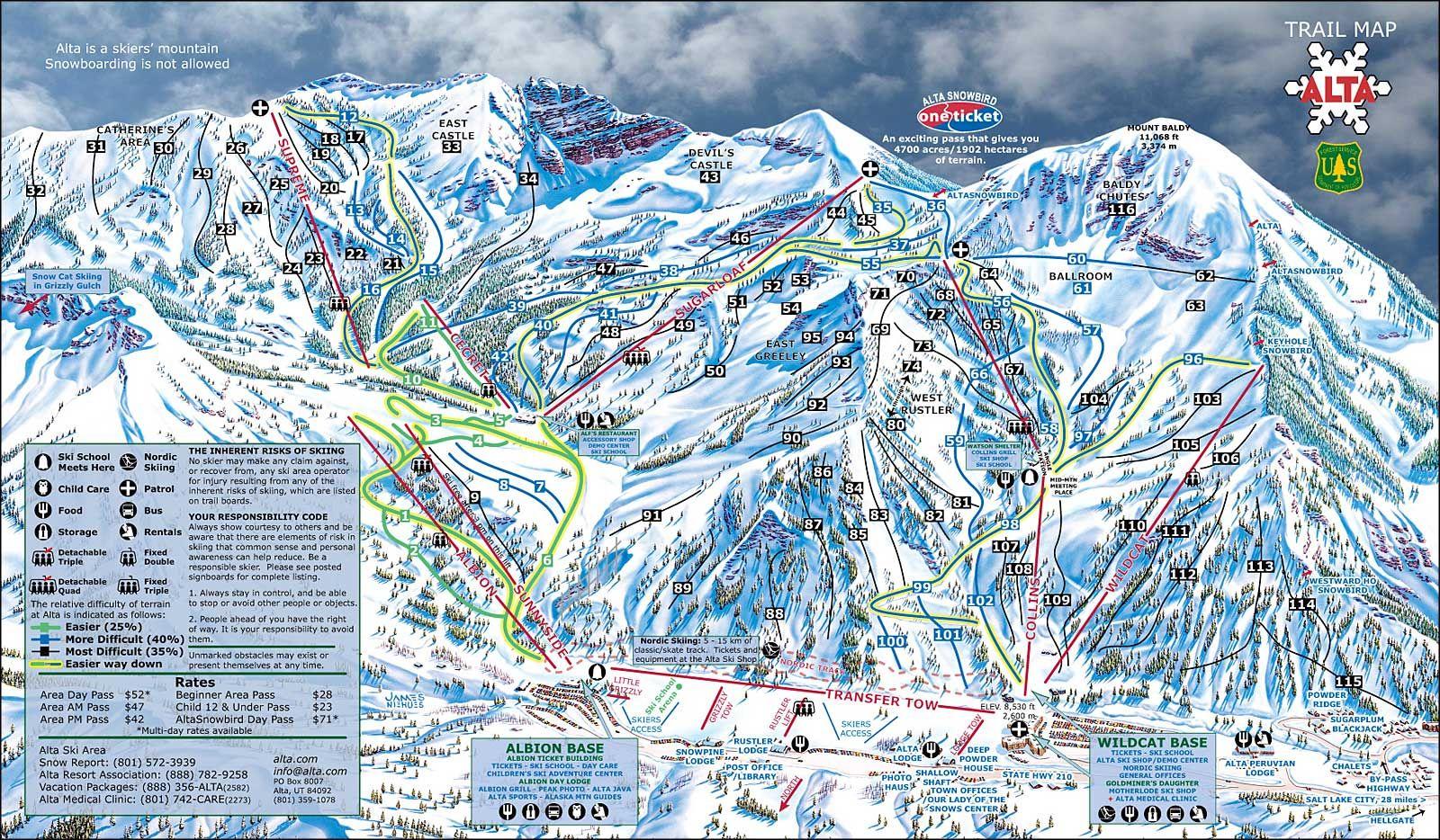alta ski resort | alta ski resort, alta, utah | snow skiing in 2018