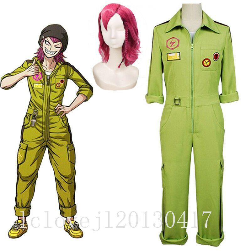 Male Female DanganRonpa Kazuichi Souda Jumpsuit Cosplay Costume Suit Halloween
