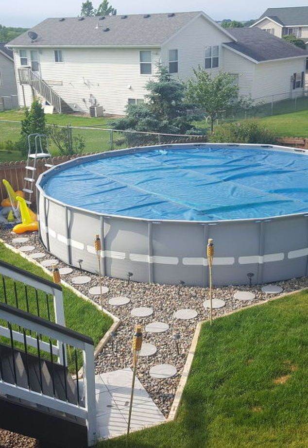 making an outdoor oasis around your intex pool, landscape, outdoor ...