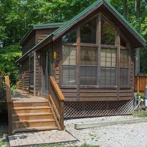 Lodging Cabins Dayton Koa Campground And Rv Park Koa Campgrounds Cabin Dayton Ohio