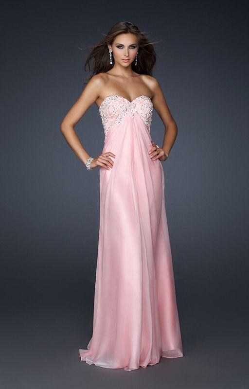 Pink Strapless La Femme 17516 Beaded Long Prom Dress [La Femme ...