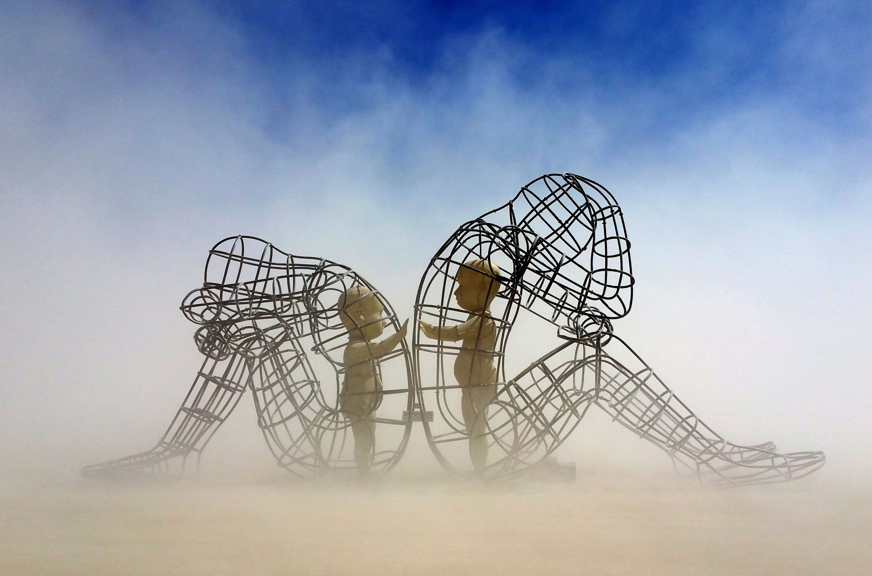 What Are Some Examples Of Really Thoughtprovoking Art Quora - Thought provoking burning man sculpture shows inner children trapped inside adult bodies