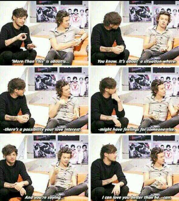 "Louis is like: ""Harold. Just Say My Name Already.""♡"