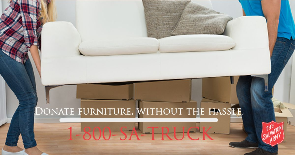 Our Free Pick Up Service Will Save You The Hassle Of Moving Loading And Unloading The Heavy Items You Want To Donate Call T Donate Furniture Furniture Donate