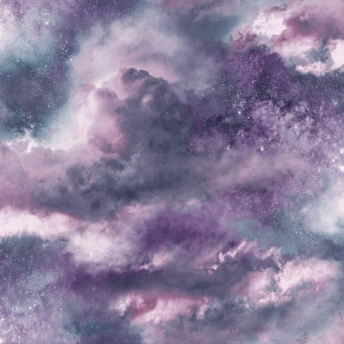 East Urban Home Diamond Galaxy 10m X 53cm Wallpaper Roll In 2021 Blush Wallpaper Purple Wallpaper Cloud Wallpaper