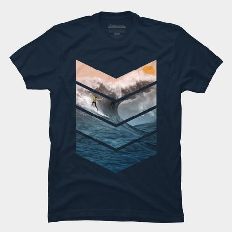 Talk about man and his wave. T-Shirt. Tee. #teedesign