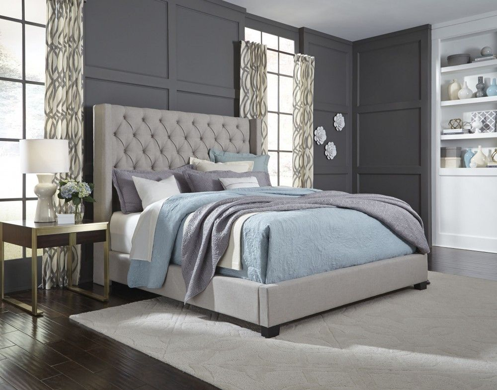 Photo of Westerly – Light Grey – King Upholstered Bed   94281   Complete Beds