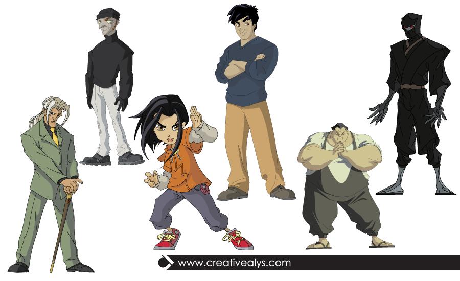 Jackiechan Adventures Cartoon Characters Download Vector Characters For Free Jackie Chan Adventures Adventure Cartoon Jackie Chan