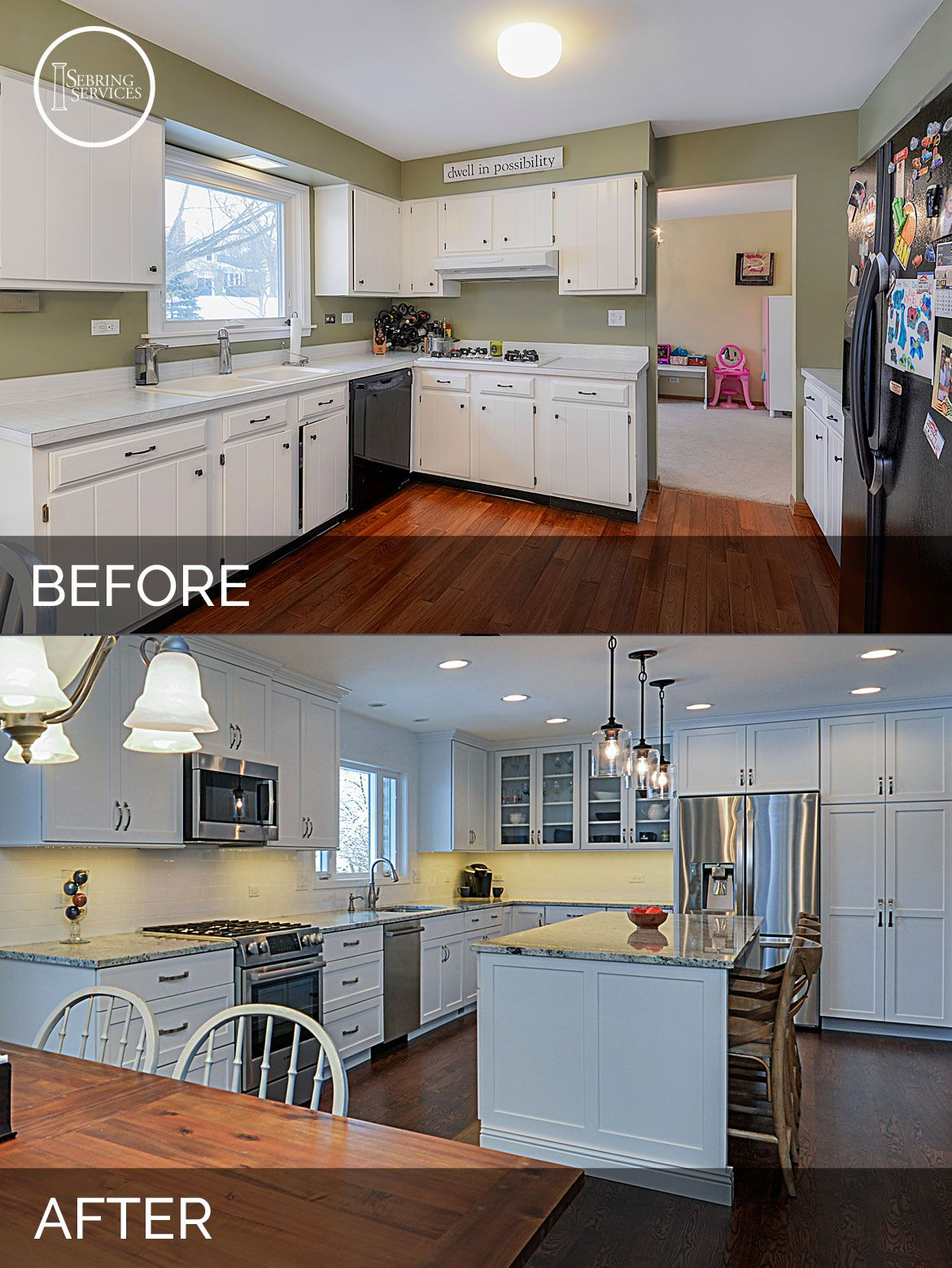 Ryan & Missy's Kitchen Before & After Pictures