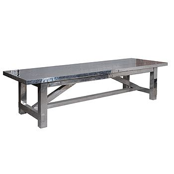 Boston Dining Table In Aluminum For The Home Pinterest - Farm table boston